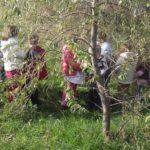 Un gruppo di bambini gioca all'aperto in un parco