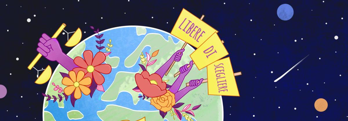 """""""Libere di scegliere"""" recita l'illustrazione per la locandina dell'evento"""