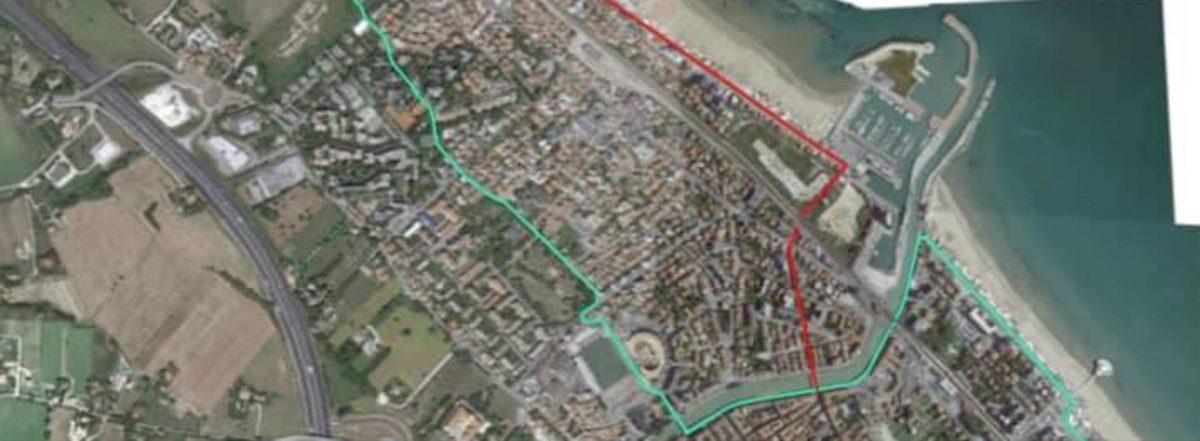 La proposta di modifica al tracciato ciclabile per la Ciclovia Adriatica